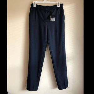 NWT Massimo dutti dark blue twill suit pants US6